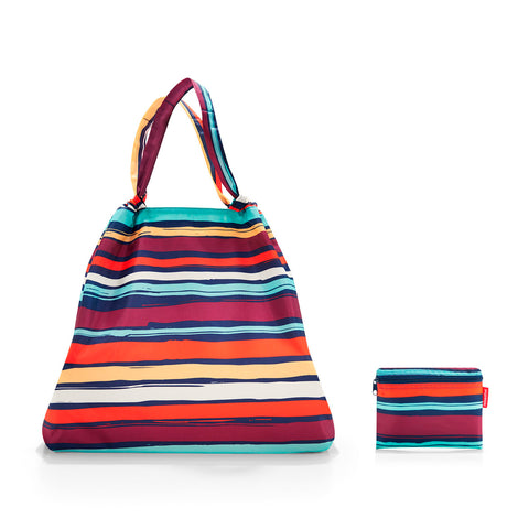 mini maxi loftbag artist stripes shopping bag
