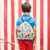 reisenthel mysac kids circus bag  drawstring bag on child