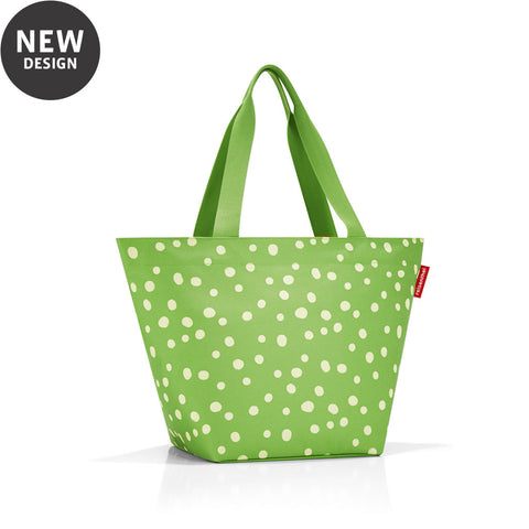 reisenthel shopper M green with white spots bag