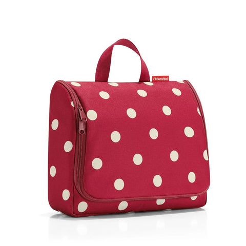 toiletbag ruby dots toiletry bag