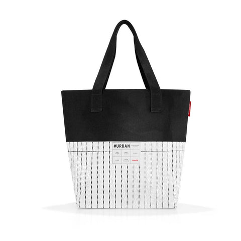 reisenthel #urban bag paris black & white large handbag