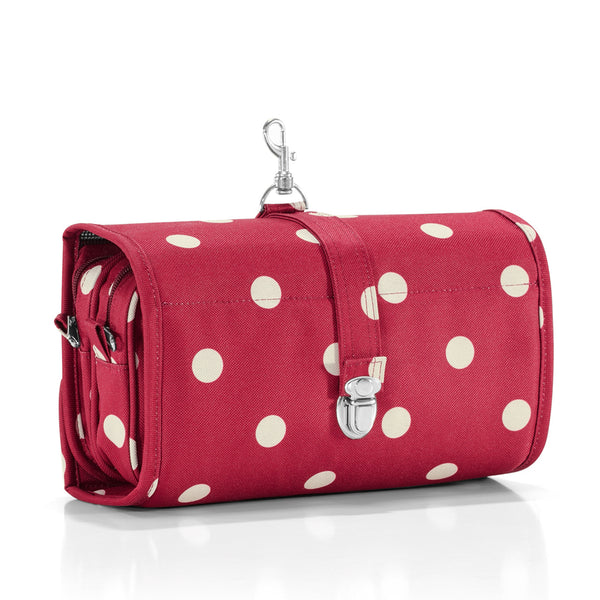 wrapcosmetic ruby dots cosmetic bag