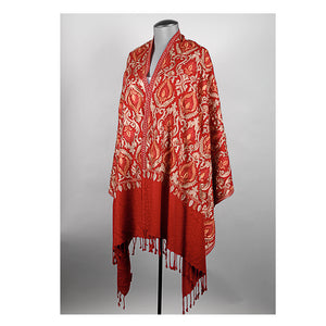 Red Embroidered Shawl