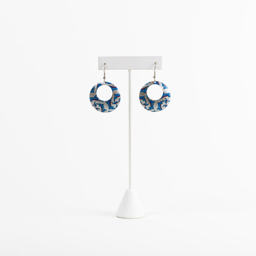 Aga Khan Museum - Earrings Iznik Pattern Silver Gilt