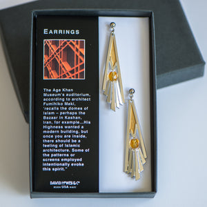 Aga Khan Museum - Railing detail earrings (gold)