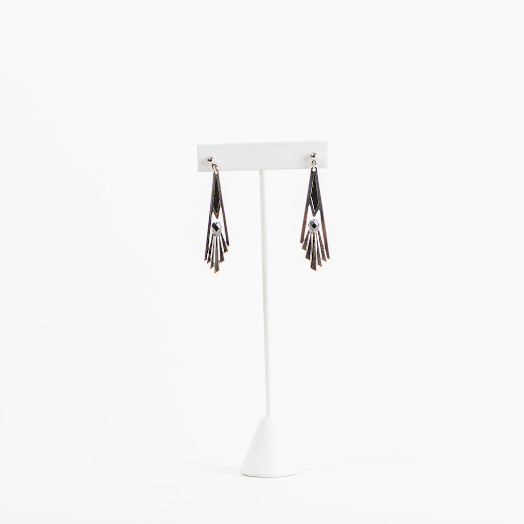 Aga Khan Museum - Railing detail earrings (black)