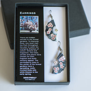 Aga Khan Museum - Cherry blossom fan earring
