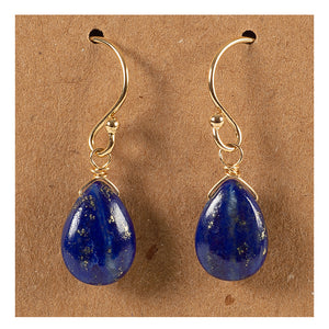 Azki Jewelry - Small Teardrop Earrings - Lapis Lazuli