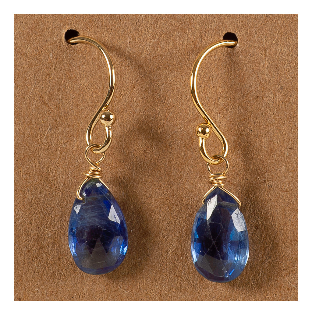 Azki Jewelry - Small Briolette Earrings-Kyanite