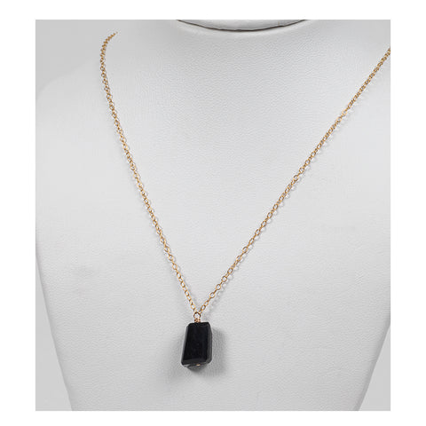 Azki Jewelry - Small Pendant - Black Tourmaline