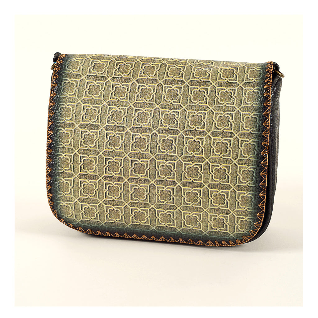 Mlavi Studio - Cross Body Bag-BROWN GREEN