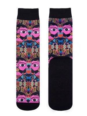 Juma-Pink Eyes socks