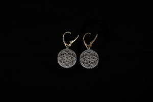 Silver Andalucian Earrings with French Hook by Nadia Dajani