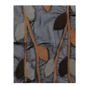 EVERGREEN-WOOL, CHIFFON & FELT SCARF