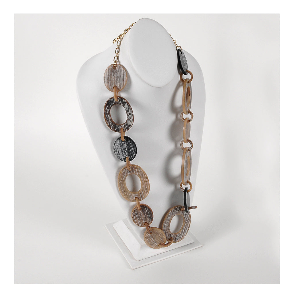Rush by Denis and Charles - Grey/tan necklace