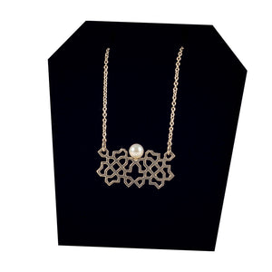 Bouchra - Silver Necklace BJ06