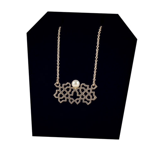 Bouchra- Silver Necklace BJ06