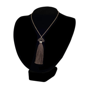 Bouchra - Silver Necklace BJ12