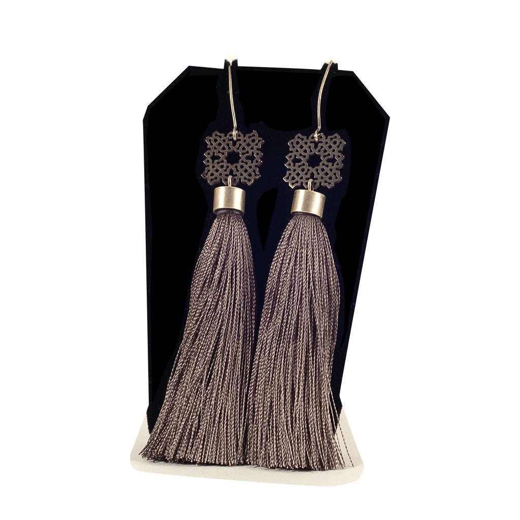 Bouchra - Silver Earrings BJ13