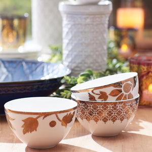 Global Tapestry Dessert Bowl Set of 4