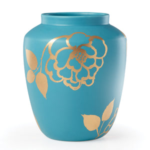Turquoise Spring and Vine Medium Vase