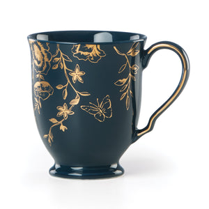 Spring and Vine Navy Floral Mug