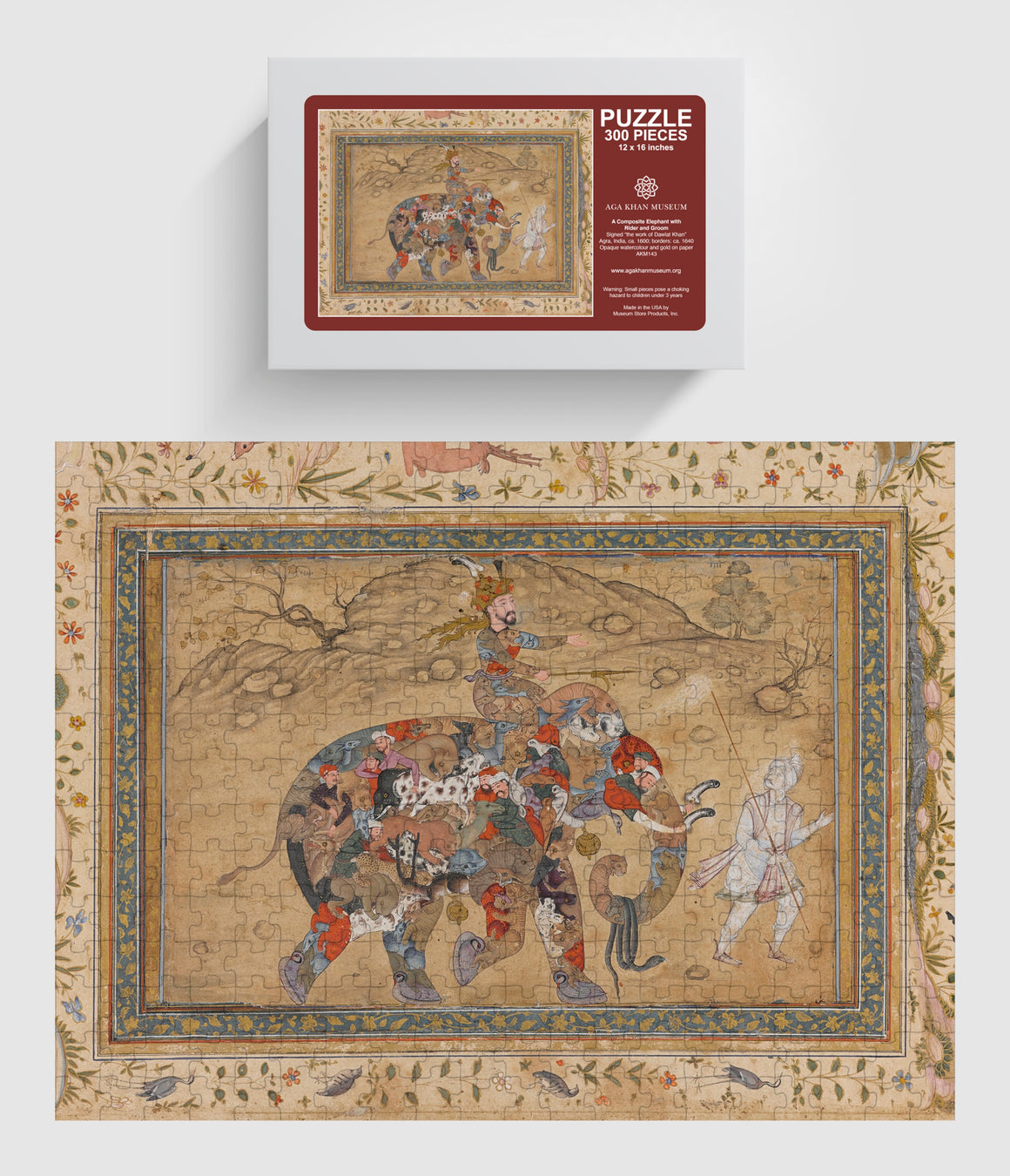 Aga Khan Museum 300 piece puzzle-Composite Elephant with Rider and Groom