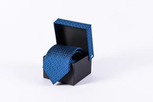 AGA KHAN MUSEUM ARCHITECTURAL DETAIL TIES - Midnight Blue and Snow White