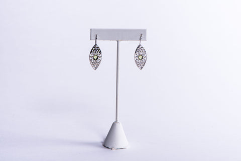 NADIA DAJANI - EARRINGS - SILVER ARABESQUE WITH STONES