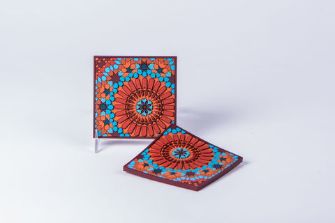 IMAGE D'ORIENT - SET OF 2 COASTERS - MOUCHARABIEH