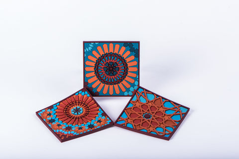 IMAGE D'ORIENT - SET OF 6 COASTERS - MOUCHARABIEH