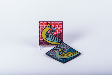 IMAGE D'ORIENT - SET OF 6 COASTERS - BIRDS OF PARADISE