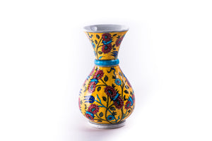 LALEZAR - VASE - IZNIK YELLOW AND RED FLORAL PATTERN