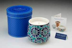 Akkadian Blue Tessera Baghdadi Candle Medium
