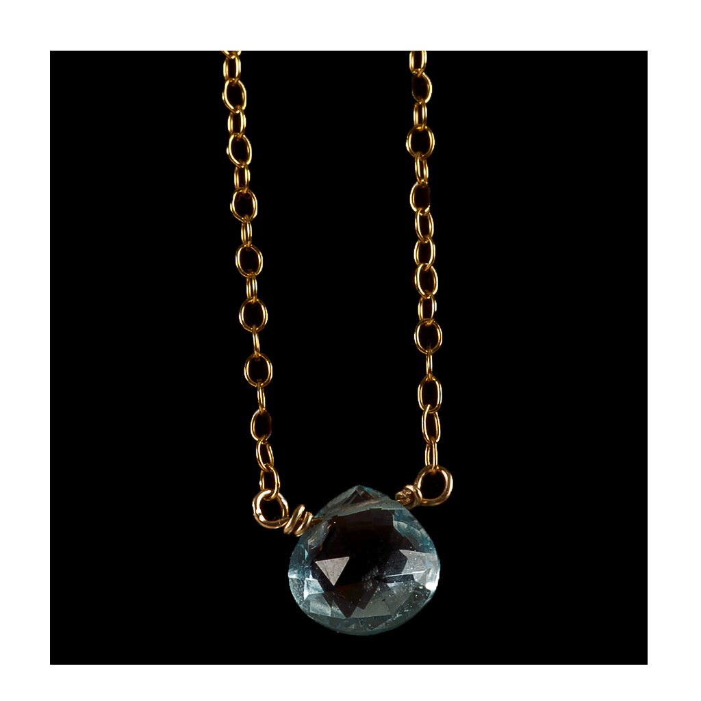 Azki- Small pendant - London Blue topaz