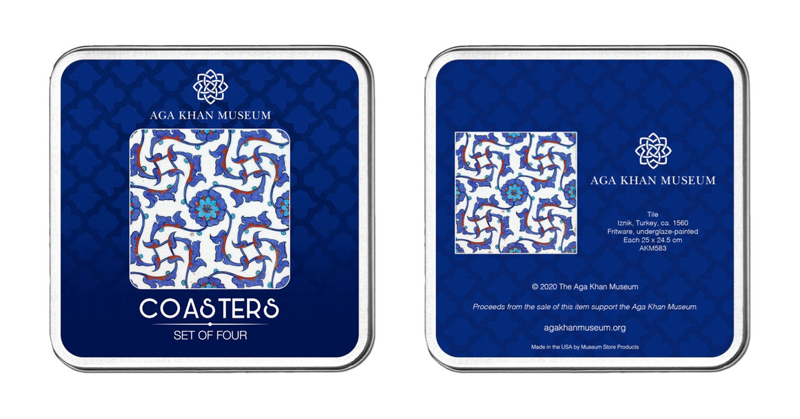 Aga Khan Museum coaster set-Iznik Tile