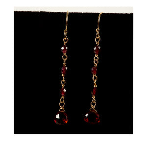 Azki Jewelry - Long Dangles-Amethyst