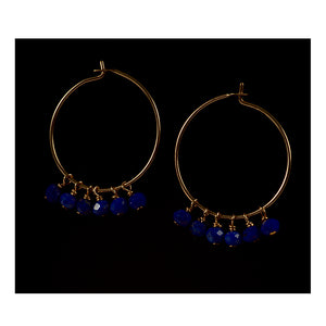 Azki-Hoop earrings - Lapis Lazuli