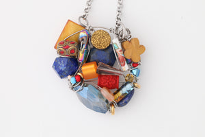 Farheen Ali: Lapis and Cinnabar Statement Pendant