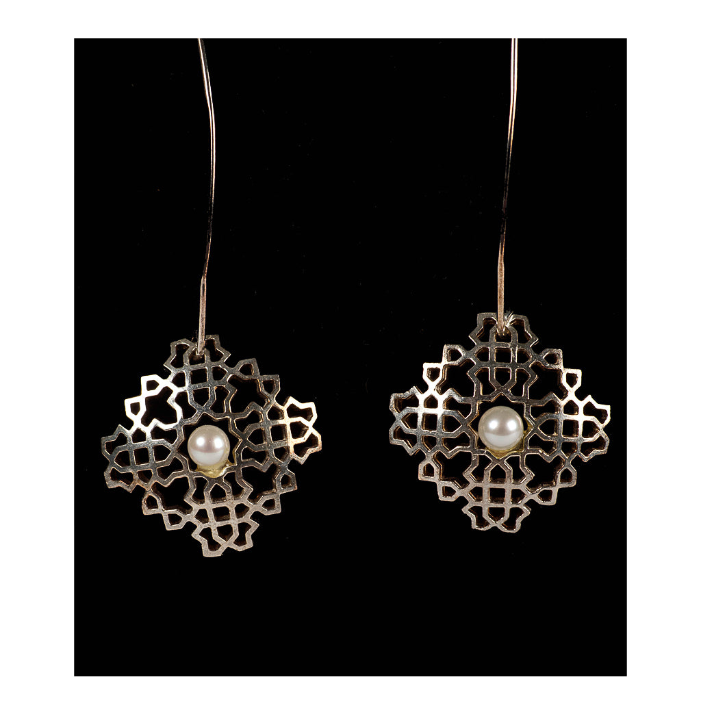Bouchra - Silver Earrings BJ04