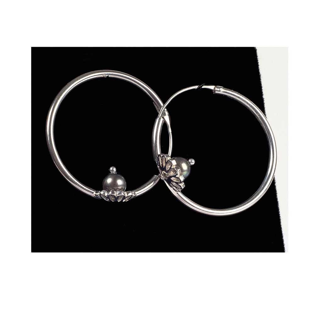 Bouchra-Silver Earrings B02
