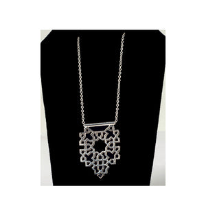 Bouchra-Silver Necklace B06