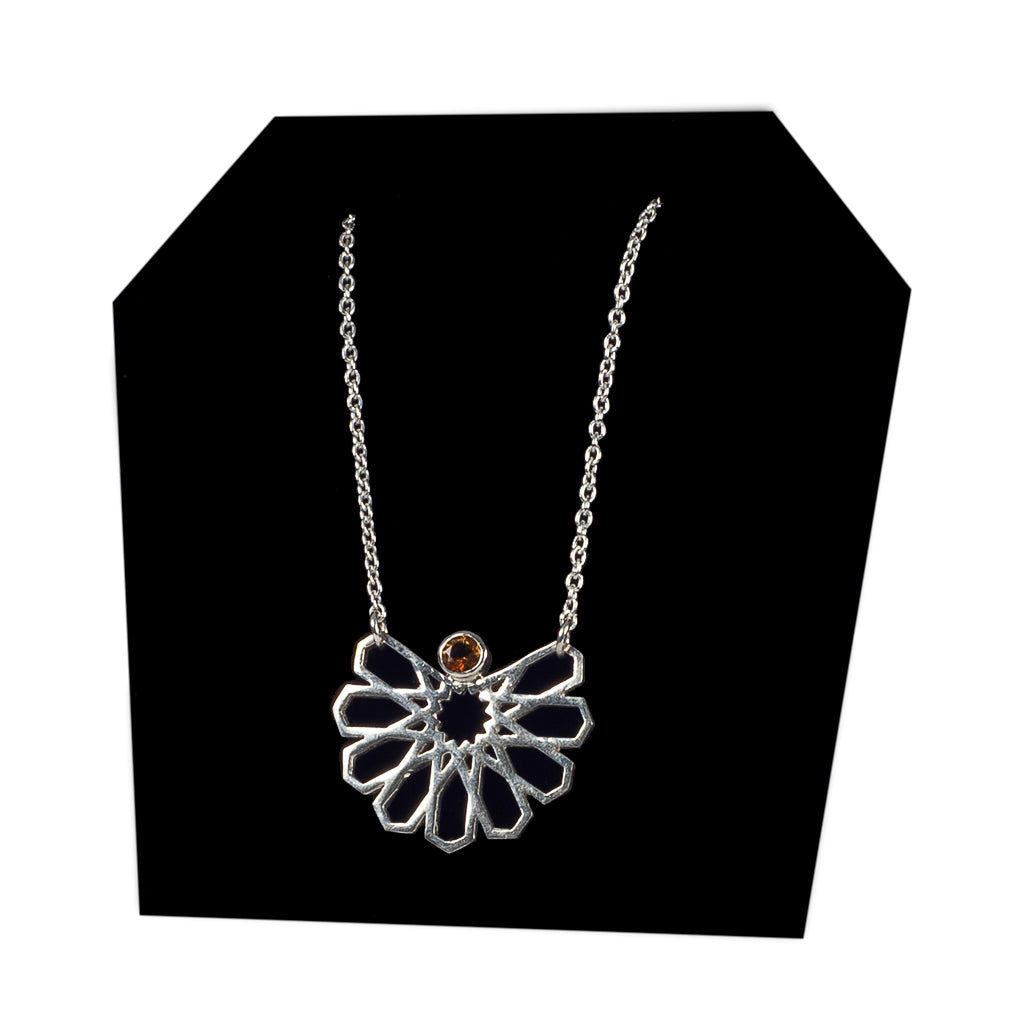 Bouchra-silver Necklace B01