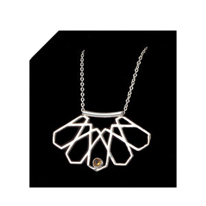 Bouchra-Silver Necklace B05