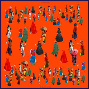 NIMINIMI-Do you see me now? (Orange) scarf