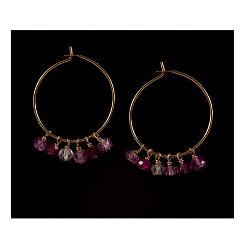 Azki-Hoop earrings - Ruby