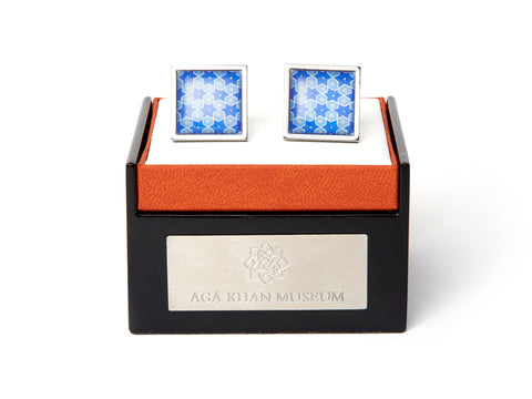 AGA KHAN MUSEUM CUFFLINKS – BLUE STAR MOTIF