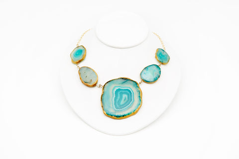 AGATE NECKLACE - TURQUOISE
