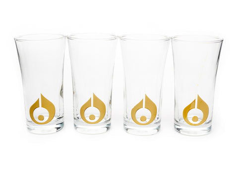 ANATOLI GOLD GILDED DROPLET GLASSES