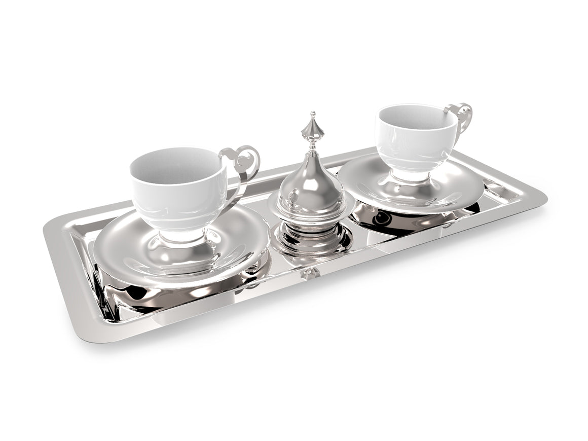 ANATOLI SEVEN-PIECE DIYAR-I RUM COFFEE SERVING SET FOR TWO